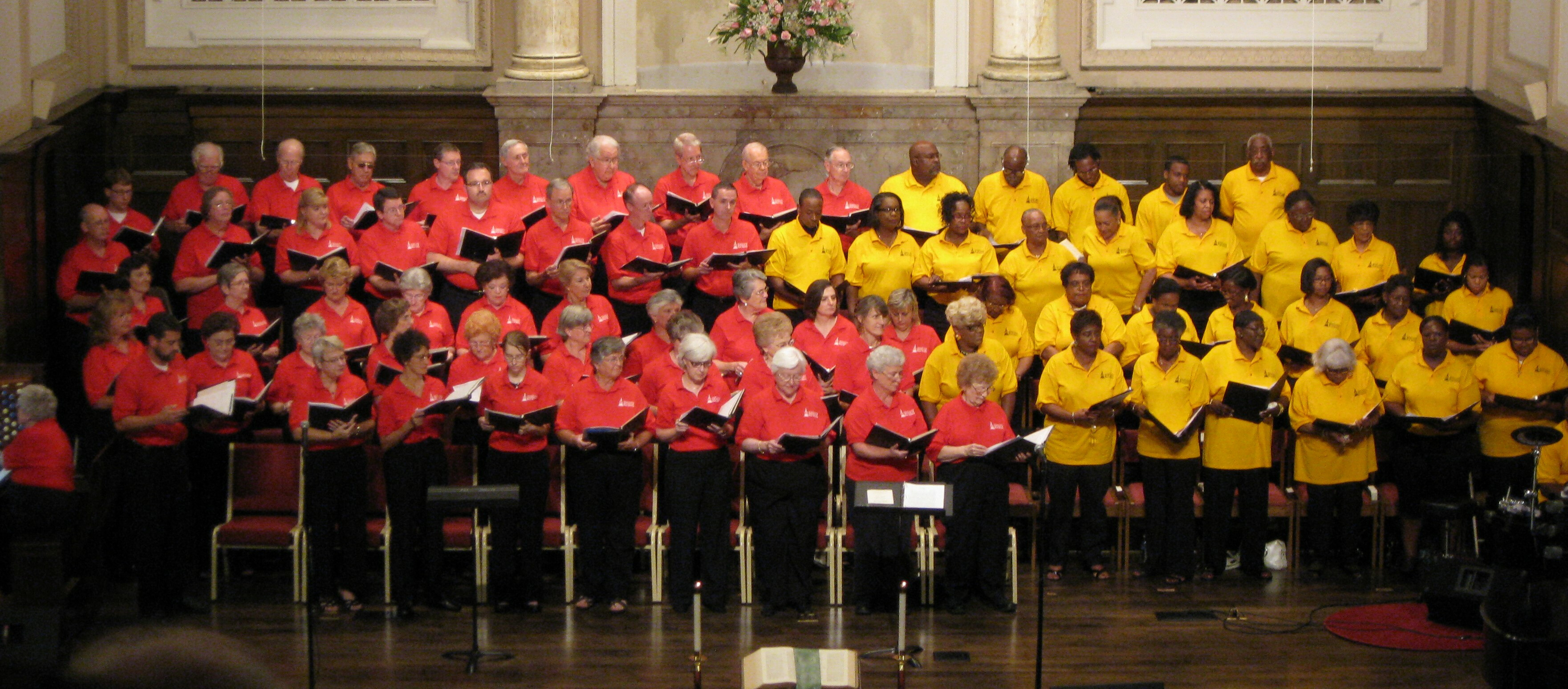 First Baptist and Mt. Zion Choirs together at Ev'ry Time I Feel the Spirit