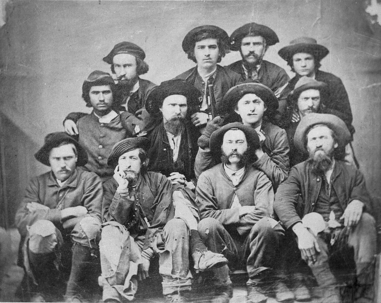 Union officers in Knoxville after escaping confederate prison in 1865